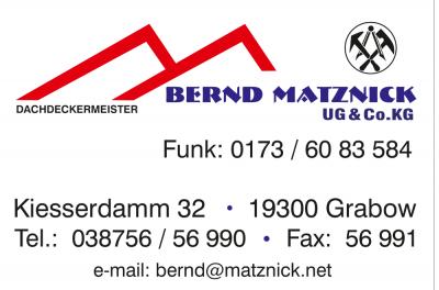 Dachdeckermeister Bernd Matznick